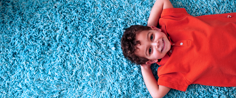 Kid on carpet